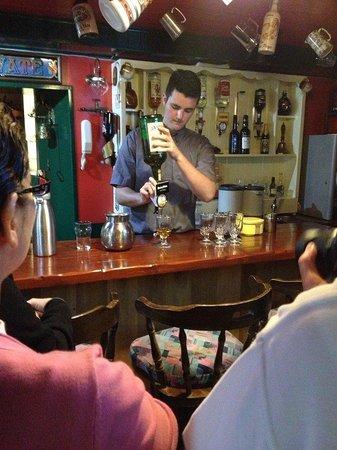 Kylemore Pass Hotel : Irish coffee in the Sailors Bar.