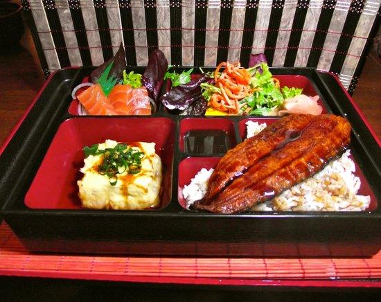 unagi bento box picture of sushi cobo st leonards tripadvisor. Black Bedroom Furniture Sets. Home Design Ideas