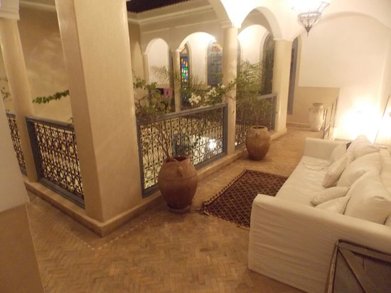 Riad Bel Haj: The second floor! Lovely place to huddle up and chillax