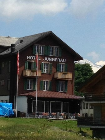 Hotel Jungfrau: Side of Hotel with Room 227 balcony