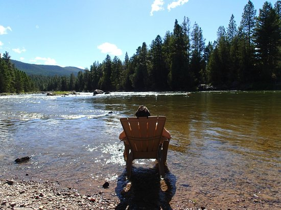 """The Resort at Paws Up : You can't beat this """"beach"""" at River Camp"""