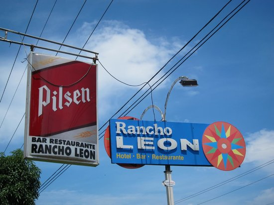 Rancho Leon: Sign from the road