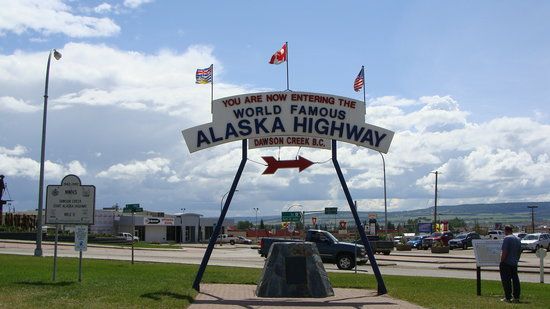 Start of Alaska Highway Dawson Creek B.C. Canada
