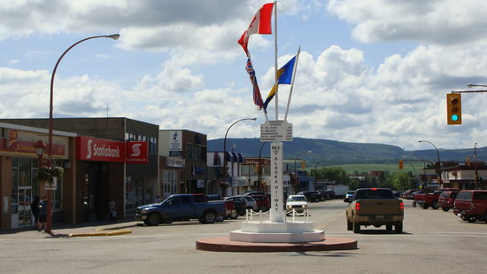 Alaska Highway: Mile O  Middle of town  Dawson Creek