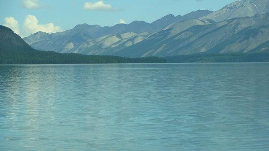 Alaska Highway: Look how blue this Muncho Lake is.