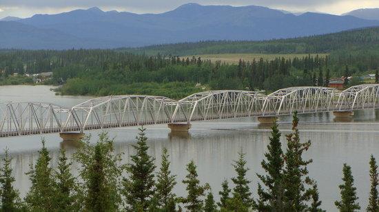 Alaska Highway: Teslin Bridge in the Yukon