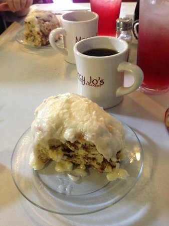 Colombia, TN: The massive cinnamon rolls.