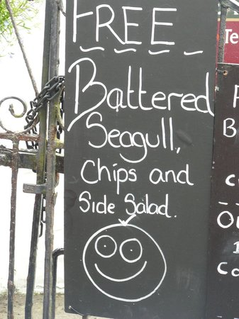 Cottage Bed and Breakfast: Local restaurant humour