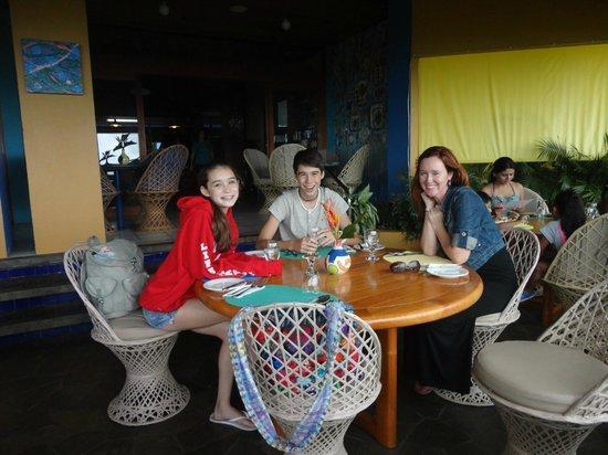 Xandari Resort & Spa: Dining area overooking the valley