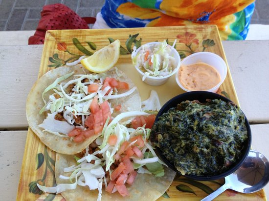 Cafe on the Beach at The Palms Resort : Blackened shrimp tacos