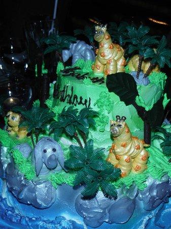 Xandari Resort & Spa: Amazing Cake with handmade icing animals!