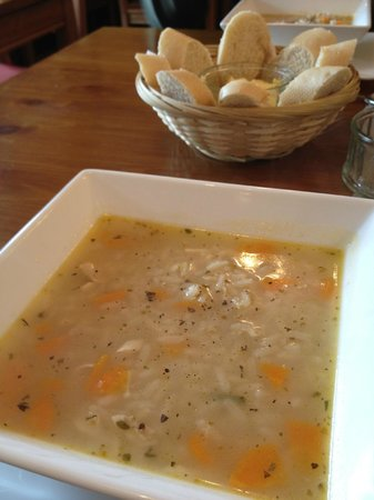 The Arrochar Tea Room: My top favorite chicken soup, served with bread
