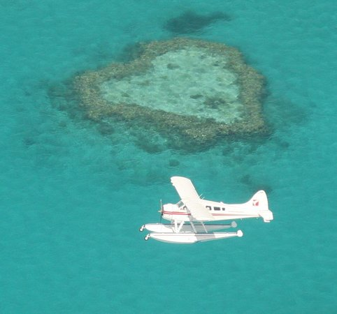 Heart Reef: There was another seaplane when we viewed it!