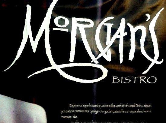 Morgan's Bistro: Morgan's Signage
