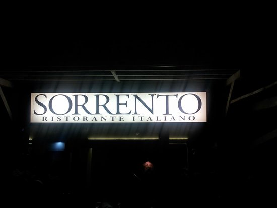 Bella Italia: The entrance of the venue by night