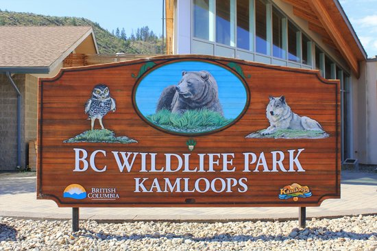 Kamloops Wildlife Park : Park sign