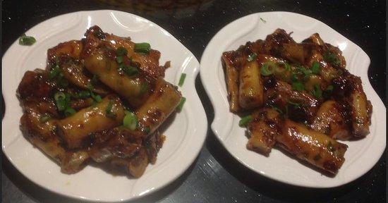 Canton Paradise: Wok fried Chee Cheong fun with XO Chilli Sauce