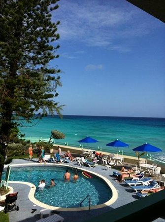 Blue Orchids Beach Hotel : view from our balcony.