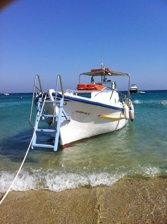 Deliades Hotel: taxi boat to take you to different beaches (max €7 each / return)