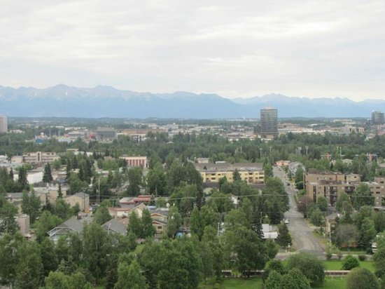 Sheraton Anchorage Hotel: A view to the south