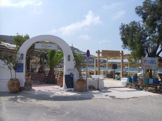 Deliades Hotel: two beach resturants. you get €5 off your lunch bill at Ithaki if you use their lounger (€6 each