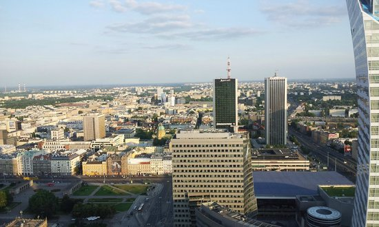 InterContinental Warszawa: Aussicht aus Club-Lounge