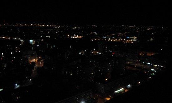 InterContinental Warszawa: Warschau bei Nacht