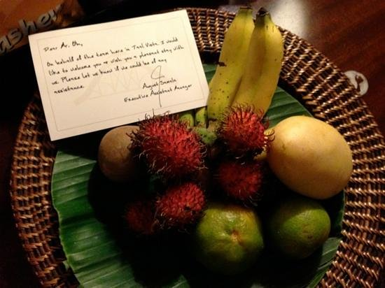 Taal Vista Hotel: Nice touch from the EAM