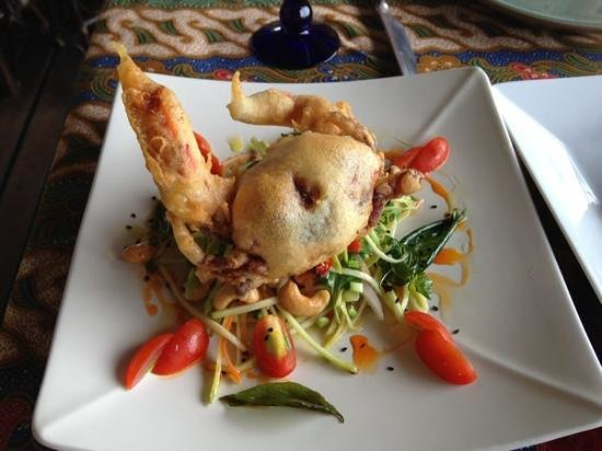 Poppies Restaurant: soft shell crab