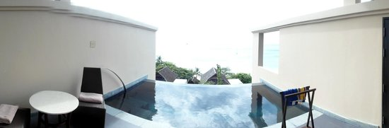Vana Belle, A Luxury Collection Resort, Koh Samui: Panoramabild: Terrasse mit Meerblick