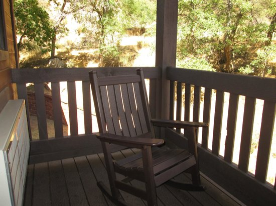 Zion Lodge: Porch with rocking chairs