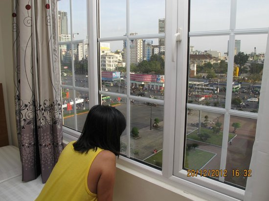 Song Anh Hotel 3: Looking out form the Room 401
