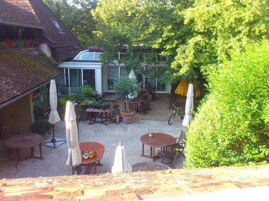 Hostellerie du Vieux Moulin: vue de la terrasse