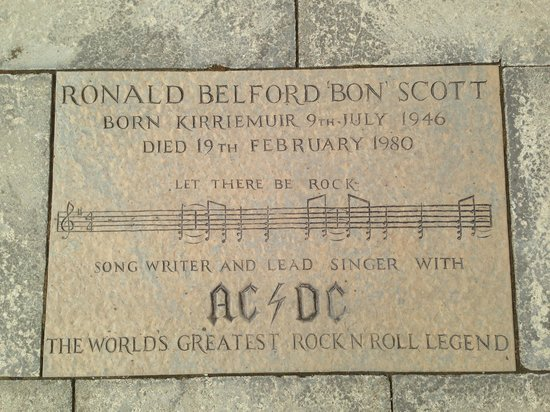 Bon Scott Plaque