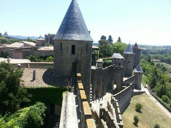 Le Musée de la Torture de Carcassone : Vy från slottet som ligger innanför ringmuren.