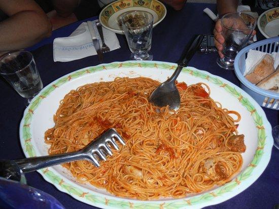 Ristorante Da Nedo : Spaghettata al granchio.. specialità del giorno x 5 persone....