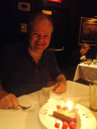 The Capital Grille : Birthday boy gets his cake