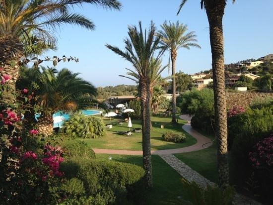 Aquadulci Hotel: Blick vom Balkon in den Garten