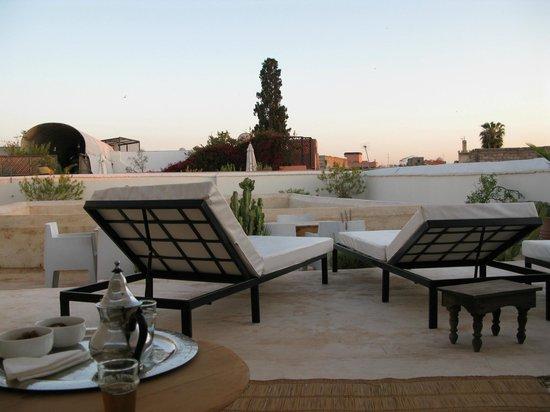 Riad Dar-K: Gegen Abend auf der Dachterrasse