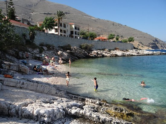 Olive Bay Hotel : The little local beach 50 metres from the hotel. Lovely early in the morning