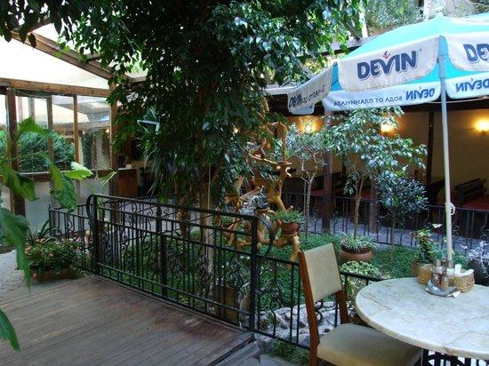 Hotel Niky: Garden restaurant