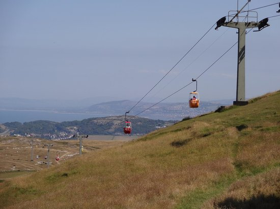 Great Orme Cable Cars: Looking from the Orme