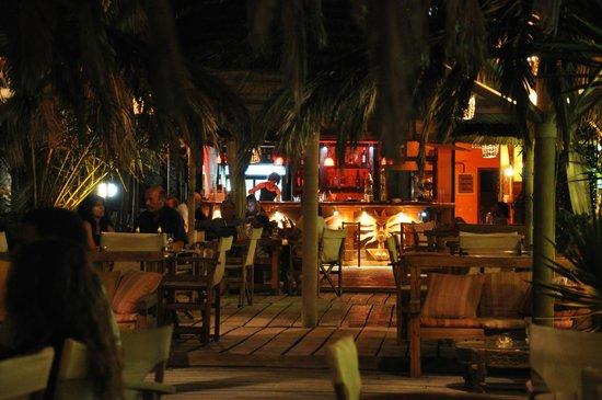 Cedar Cafe at night.