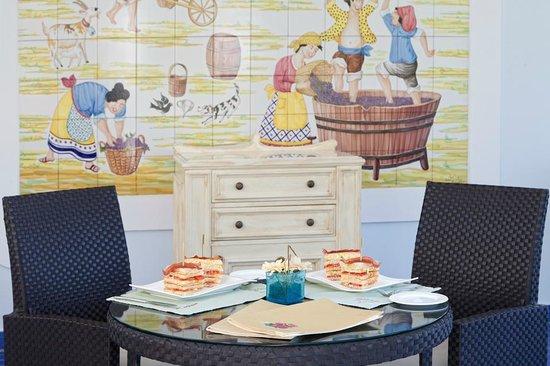 Terme Manzi Hotel & Spa : Snack al Bar bouganville