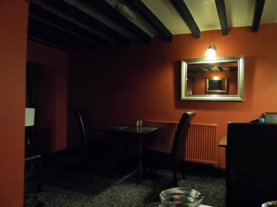 The Moors Inn: The rather dark dining room