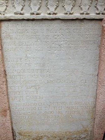 Locanda alle Porte 1632: tariffario originale del 1632