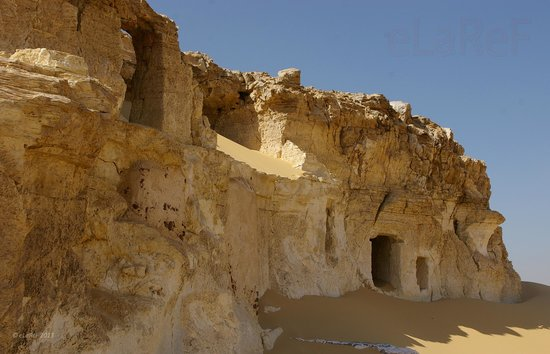 Asyut, Egypt: Tombs at the top of the climb
