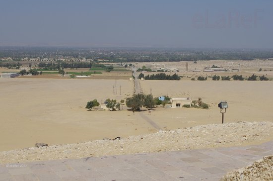 Meir Monumental Tombs: The car is down there!