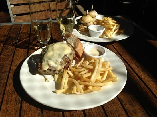 Deck Eatery & Bar: beef open sandwich and Baramundi slider - both $15!