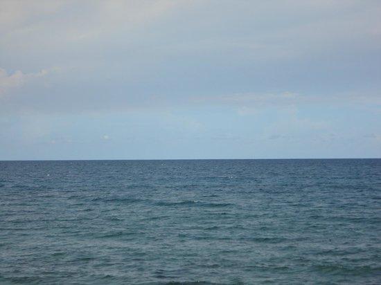 Il mare fotografato dall'Hotel Copacabana